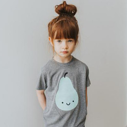 wholesale kids tshirts Australia - New Summer Ins Baby Kids Cotton T-shirts Cartoon Letters Short Sleeve Tops Tee Girls Boys Tshirts Children T-shirt 3208
