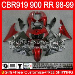 $enCountryForm.capitalKeyWord NZ - Body For HONDA CBR 919RR CBR900RR CBR919RR 98 99 CBR 900RR 68NO20 TOP Red grey CBR919 RR CBR900 RR CBR 919 RR 1998 1999 Fairing kit 8Gifts