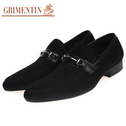 Grimentin Shoes UK - GRIMENTIN brand 2018 man shoes fashion nubuck leather men party shoes top quality brown black mens dress shoes size:38-44 2-z169