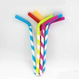$enCountryForm.capitalKeyWord NZ - Muti Color silicon Reusable Smoothie Straws for Juice Milk Tea Drinking Straw Protect Your Teeth 10 pcs lot