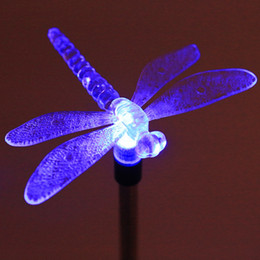 wholesale multicolor led solar light outdoor dragonfly butterfly bird lawn lamps solar led path light outdoor garden lawn landscape lamp