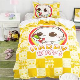 $enCountryForm.capitalKeyWord Canada - 100% cotton Children's cartoon bedding set bed sheet   duvet cover   pillowcase 3pcs  set Home textile Twin size free shipping