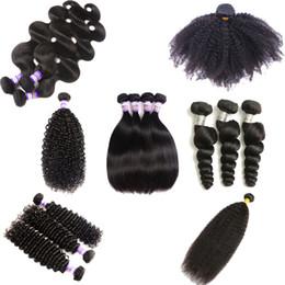 Discount afro human hair weave - Brazilian Kinky Curly Virgin Hair 10A Brazilian Mogolian AFRO Kinky Straight Body Loose Deep Water Wave Weaves Human Hai