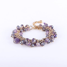 reiki healing wholesalers UK - Hot sale New Fashion Sexy Women Men Bracelets Amethyst Jasper Reiki crystal Bracelets Chakra Healing Crystals Natural Stone Jewelry