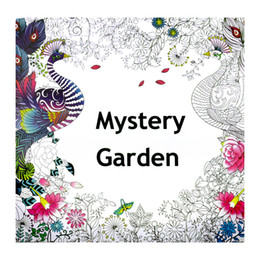 Coloring Book English Edition Books Mystery Garden Hand Painted Kids Adult Decompression The Enchanted Forest Relieve Stress 1 8tx H1