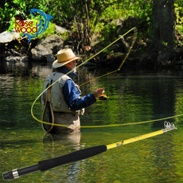 """New portable telescopic fly fishing rod 6'6"""" #3 traveller mini fly fishing rod fiber glass 5 SEC designed in USA made in china on Sale"""