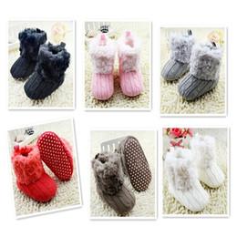 $enCountryForm.capitalKeyWord Australia - Warm Prewalker Boots Toddler Girl Boy Crochet Knit Fleece Boot Wool Snow Crib Shoes Winter Booties