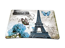 China Purple Butterfly Tower Mouse Pad Customized Game Mouse mat Rectangle suppliers