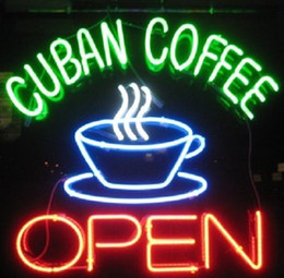 coffee neon open sign Australia - New Cuban Coffee Shop Cafe Business Open Neon Sign 24x20