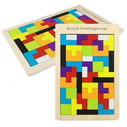 tetris jigsaw puzzle 2018 - DHL Educational Wooden Toys Tetris Game style Wooden Building children's educational toys wooden educational jigsaw