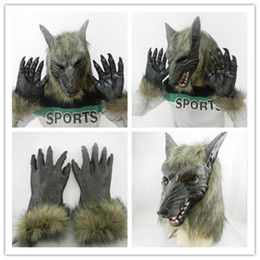 $enCountryForm.capitalKeyWord NZ - Halloween Horror Devil Masks Silicone Rubber Masks Party Halloween Wolf Mask & Wolf Gloves For Halloween Party NightClub