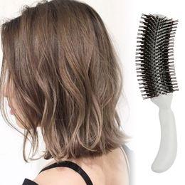 $enCountryForm.capitalKeyWord Canada - 1pc White Resin Plus Nylon Yarn Professional Hair Comb Wavy Comb Curly Dress Tool Pear Flower Bang Straight Hair Style