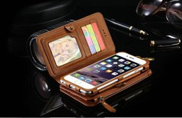 Multi Wallet Case NZ - Genuine Leather Bag Multi-functional Case Leather Card Holder Wallet Stand Phone Case Cover For iPhone 6 6Plus 7 7 Plus 8 plus S8 NOTE 7