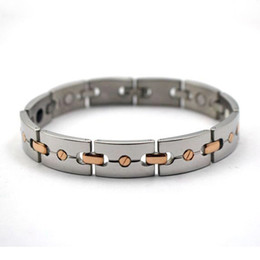 $enCountryForm.capitalKeyWord NZ - Health energy power bracelet silver and rose gold women charm bracelet jewelry vogue men magnetic infrared ray bracelet