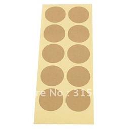 Pegatinas de papel Kraft redondas en blanco, adhesivos de papel de regalo, sello de diámetro: 3,5 cm