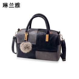 Discount small gold pendant designs - Wholesale- 2016 Fashion Design Women Handbag Matte PU leather Good quality Shoulder Bags women Small Pendant women messe