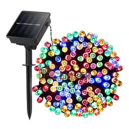 $enCountryForm.capitalKeyWord Canada - 10M 20M 30M 40M 50M Waterproof LED Solar Light Strings RGB Blue Red Green Pink Purple Warm Cool 8-Modes Multi Color LED String