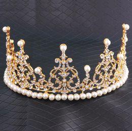 $enCountryForm.capitalKeyWord Canada - Bridal Crown Crystal Tiara Bridal Headband Rhinestone Crown Hair Combs For Girl Women Prom Event Birthday Accessories Bridal Jewelry