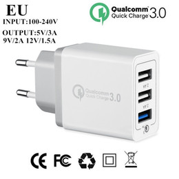 uk eu plug 2019 - Quick charge QC 3.0 EU US UK Travel Ac home wall charger fast charging plug adapter for iphone samsung s6 s7 s8 android