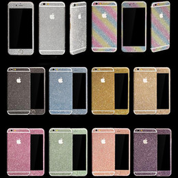 Wholesale Fashion Diamond Glitter Bling Full Body Decal Skin Sticker Cases phone Case Cover For iPhone XR XS MAX s Plus Samsung