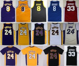 a92d64eb4 Throwback 24 Kobe Bryant Jersey 8 Men High School Lower Merion 33 Bryant  Basketball Jerseys Retired