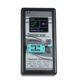 Venta al por mayor de Freeshipping Probador de transistores multiusos 128 * 160 diodo Tiristor Capacitancia Resistencia Inductancia MOSFET ESR LCR Medidor TFT Pantalla a color