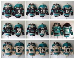 ... Old Time Hoodies 8 Joe Pavelski 19 Joe Thornton 88 Brent Burns San Jose  Sharks Hockey Men Jerseys 8 Pavelski 12 Marleau 39 Logan Couture 88 brent  burns ... f382406f1
