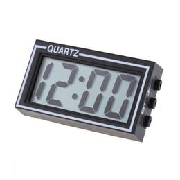 Mini Digital LCD Auto Car Truck Clock Dashboard Date Time Calendar Car Electronic Digital Clock Black on Sale