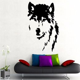 Wall Stickers Wolves Canada - Diamond level Brand Animals Wolf Home Decoration Wall Stickers Vinyl DIY Decor Living Room Bedroom Interior