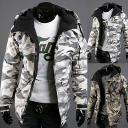 Military Parka Men Canada - Fashion Spring Jacket Men Parkas Outerwear Military Camouflage Hooded Coat Men Cotton-padded Jacket Brand Men Clothing XXL 3509