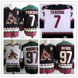 6eb434f81 Mens Arizona Coyotes 97 JEREMY ROENICK Hockey Jerseys #7 KEITH TKACHUK PHOENIX  COYOTES 1990s Black Classic Vintage Jersey S-3XL On Sale