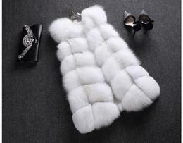 Fox Fur Pelts Canada - LIYAFUR Women's 100% Real Genuine Full Pelt Skin Luxury Fox Fur Long Vest Waistcoat Gilet Fashion