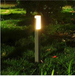 $enCountryForm.capitalKeyWord Canada - square LED pole bollard lamp villa garden standing light LED modern waterproof outdoor post lawn light lamp LED