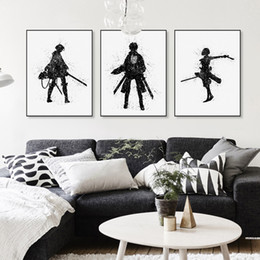 watercolor prints NZ - Watercolor Japanese Animation Attack On Titan Canvas Big A4 Art Poster Print Wall Picture Paintings Living Room Home Decor No Frame