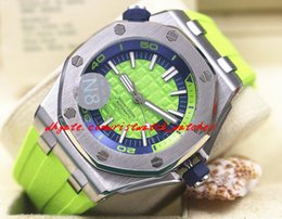 $enCountryForm.capitalKeyWord Canada - Luxury Wristwatch Diver ST.OO.A038CA.01 Green Rubber Bracelet Automatic Watch Men Watches Top Quality New Arrival