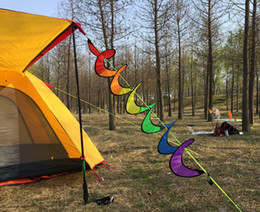 spinner rainbow dhl UK - DHL & SF_express Rainbow Windsock Spiral Windmill Tent Colorful Wind Spinner Garden Home Decorations 240*120cm opp packing