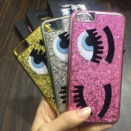 $enCountryForm.capitalKeyWord Canada - Glitter powder fashion chiara ferragni Bling big eyes eyelashes PC Plating back Cover phone Cases for iPhone x xs max xr 8 7 6 6S Plus