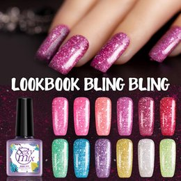 online shopping Sexy mix ML Pure Nude Color Gel Nail Polish Soak Off UV Led Glitter Gel Polish UV Sequins Nail Varnish Use Base Coat Gel