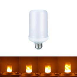 Wholesale LED Flame Effect Corn Bulb E27 B22 SMD2835 W Modes Flickering Emulation Decorative Flame Lamps For Christmas Halloween Decoration