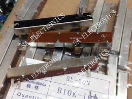 Discount potentiometer joint Wholesale- [SA]SL60N 8.8 cm slide potentiometer single joint B10K 15 small split shaft--10PCS LOT