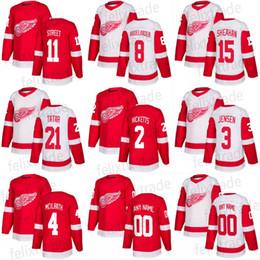 2017-18 Season Men s 8 Justin Abdelkader 11 Ben Street 15 Riley Sheahan 21 Tomas  Tatar 17 David Booth Detroit Red Wings Hockey Jersey f586d12b0