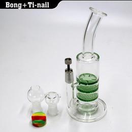 $enCountryForm.capitalKeyWord NZ - glass bong 3X Layer Honeycomb  tornado water pipe dab oil rig bongs with GR2 Titanium nail 4mm Quartz banger