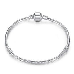 1 pz trasporto di goccia placcato argento bracciali con logo donne catena del serpente marchio di lusso perline di fascino per pandora braccialetto del braccialetto del regalo dei bambini