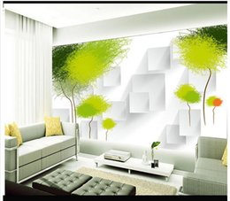 Vintage Kitchen Sets Canada - 3D photo wallpaper custom wall murals wallpaper 3 d abstract tree contemporary and contracted setting wall murals 3d living room wall decor
