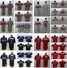 20d68e05d ... Authentic Collection Commemorative Patch Atlanta Braves 7 Dansby Swanson  5 Freddie Freeman 24 Deion Sanders 44 Hank Aaron ...