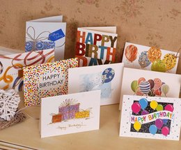 Wholesale Christmas Thank Cards Canada - 2017 New 100pcs lot Sweet Wish Lovely For You Happy Birthday Thank You Favor Gift Card Greeting Christmas Printed Card Kid Gift