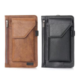 Iphone belt purses online shopping - Universal inch Vertical Hip Purse Buckle Leather Case For Iphone XR XS MaX X SE Galaxy Note S9 S8 Buckle Flip Dual Phone Belt