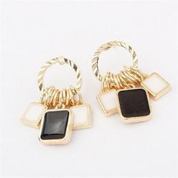 $enCountryForm.capitalKeyWord NZ - Geometric Drop Piercing Earrings DHL Bohemian Jewelry Women Party Accesssories Europe Style 2016 New Fashion Exaggerate Decoration Gift