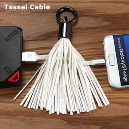 Usb Decorations NZ - Micro V8 USB Tassels Charging Data Cable Portable Key Ring Bag Decoration Chain Sync Quick Charge Cords Data Line for Samsung s6 s7 HTC Sony
