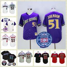 outlet store 0fe6c 7c811 arizona diamondbacks 51 randy johnson white cool base jersey